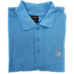 Sky Blue Polo Shirt - Embroidered St George and Dragon
