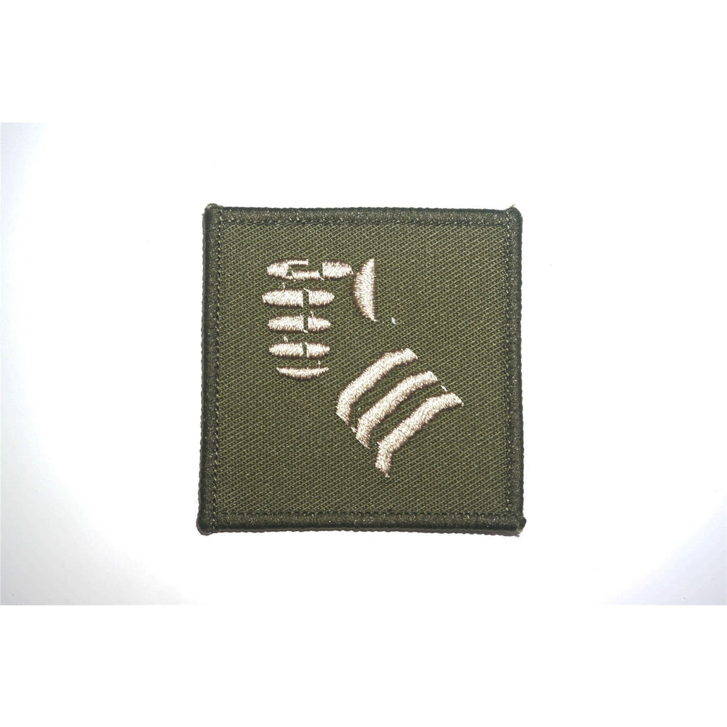 TRF - 20 Armoured Brigade - Cream Fist on Green - 55 x 55mm - Pack of 5