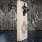 Military Insignia Wall-mounted Bottle Opener Engraved Detail