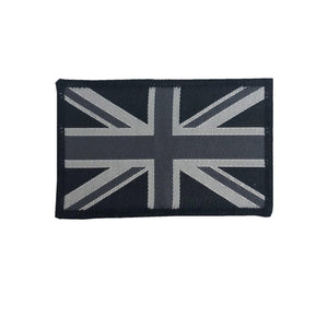 Embroidered Black Union Jack GB Patch, pair