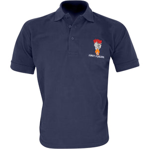 Embroidered Polo Shirt - Navy - First Fusiliers