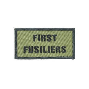 Shoulder Patch - First Fusiliers - Black on Olive - Pack of 5