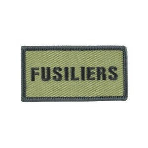 Shoulder Patch - Fusiliers - Black on Olive - Pack of 5