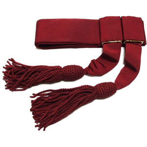 Officers' Crimson Silk Waist Sash