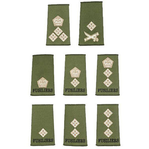 The Royal Regiment of Fusiliers - Officer Olive Green Rank Slides