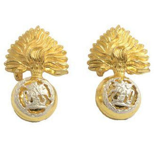 The Royal Regiment of Fusiliers - Officer Collar Badges