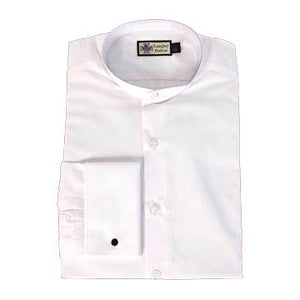 Collarless Officers White Shirt with French Cuffs