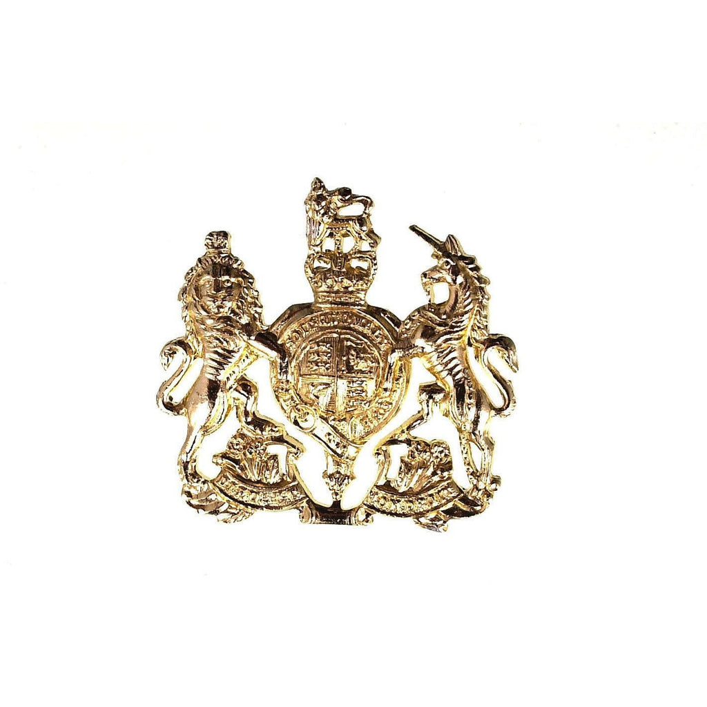 British Army WO1 Royal Arms Brass Badge
