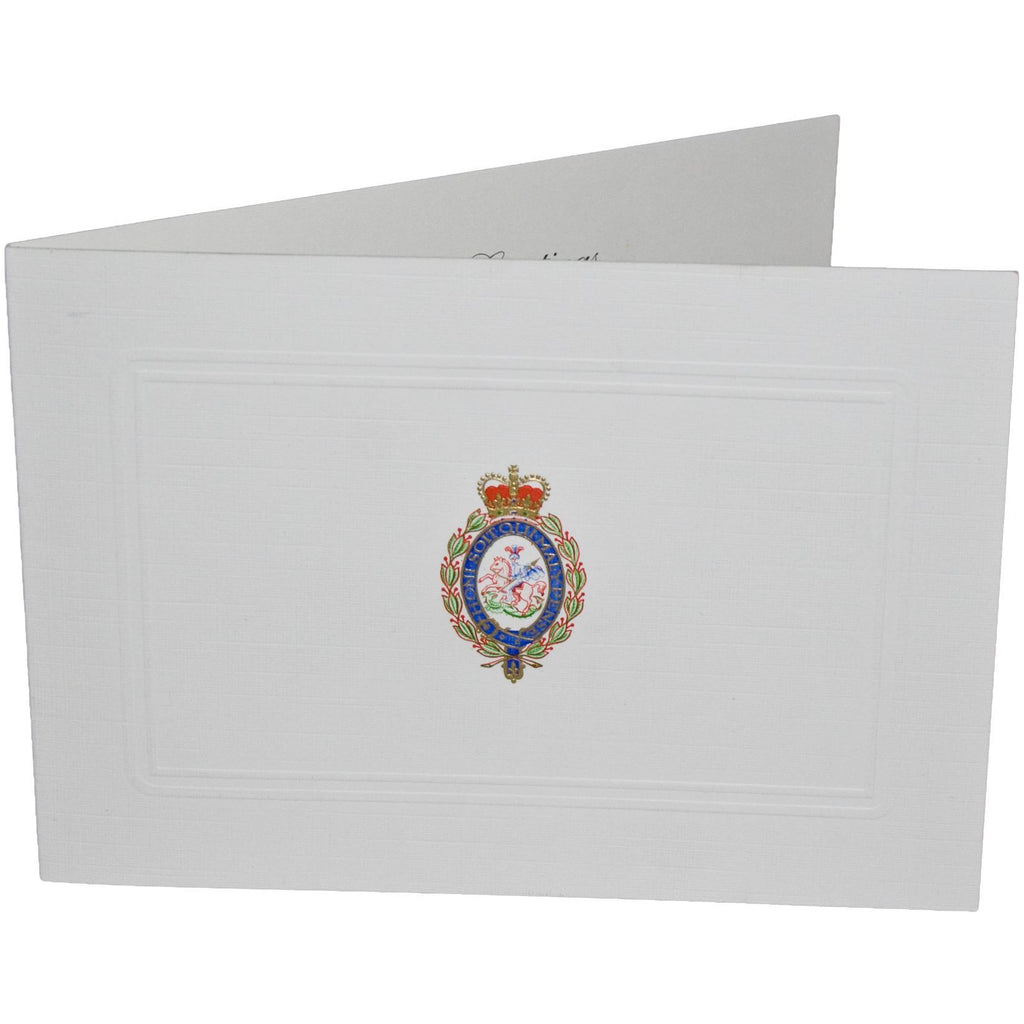 Christmas Card with the Royal Regiment of Fusiliers regimental badge (Pack of 5)