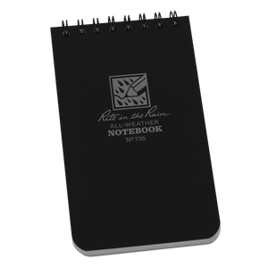 Rite in the Rain Pocket Notebook 3 x 5 - Black