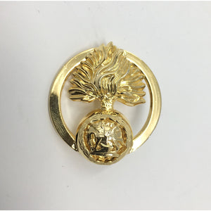 Fusiliers Ladies Brooch - Sterling Silver .925 & 24 Carat Gold Plated