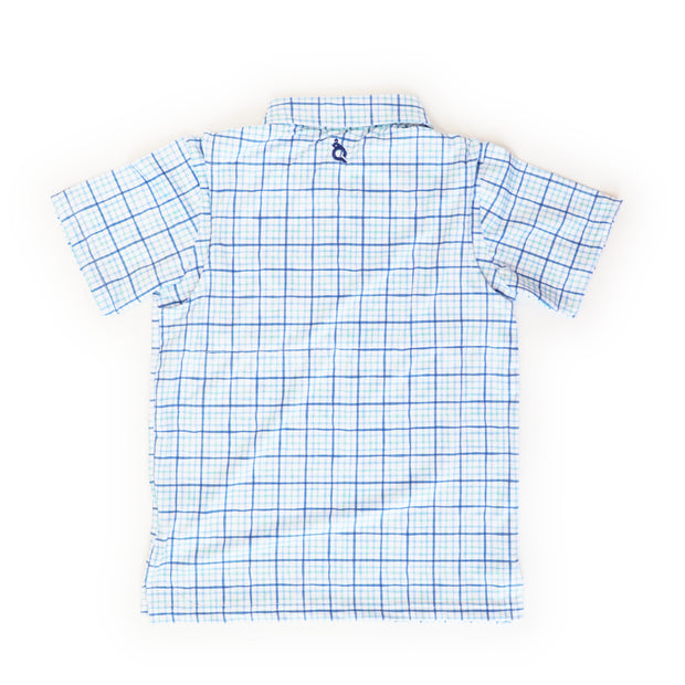 Watercolor Tattersall Polo Short Sleeve Shirt