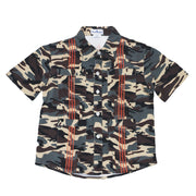Guayabera - WestTX Camo & Blaze Orange Short Sleeve Shirt