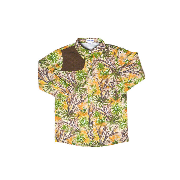 Cactus Camo & Brown Long Sleeve Shirt