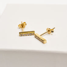 Load image into Gallery viewer, Diamond Bar Earrings