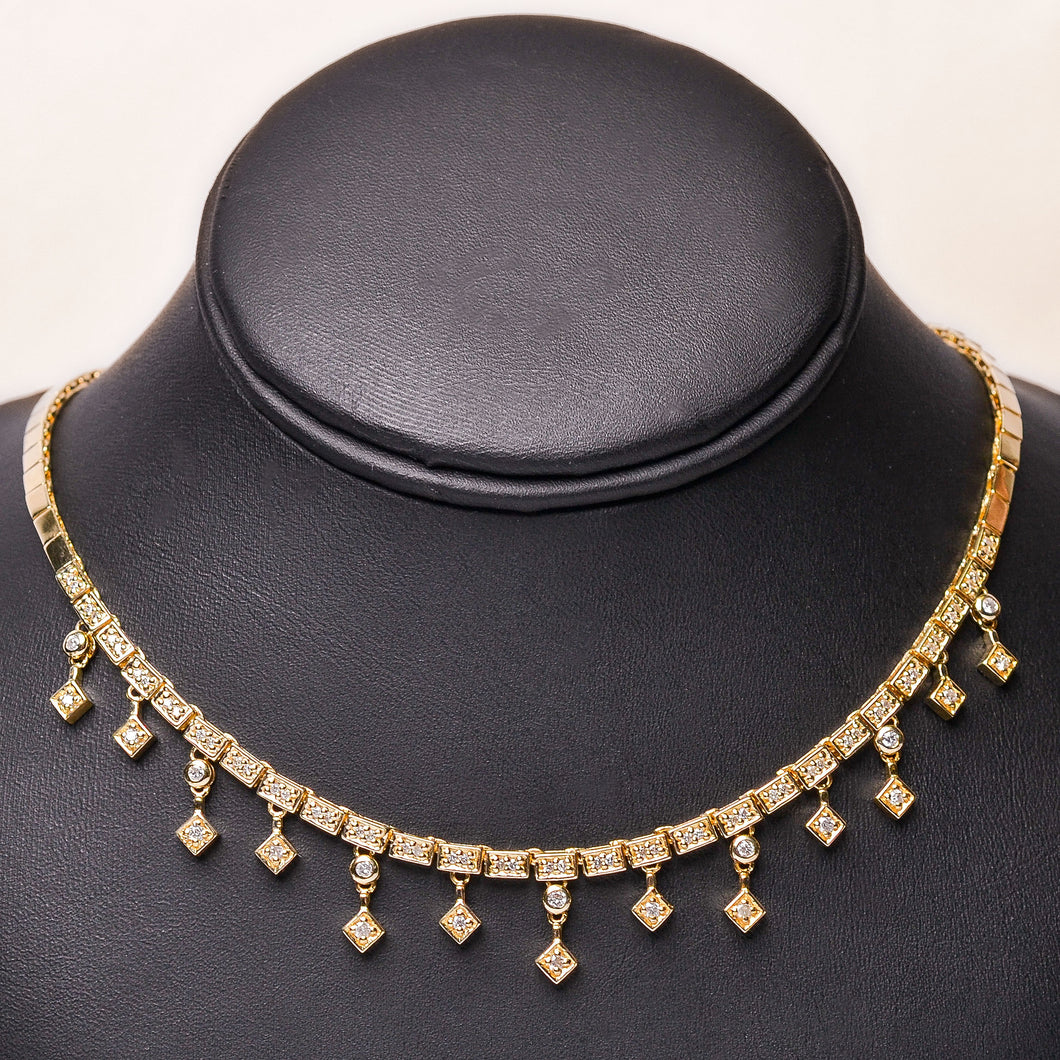 ROYAL DIAMOND AND GOLD CHOKER