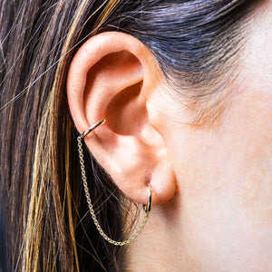 DOUBLE PIERCING EAR THREADER