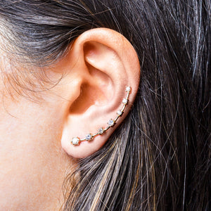 LARGE DIAMOND EAR CRAWLERS