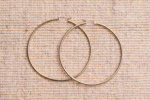 THIN LARGE GOLD HOOPS