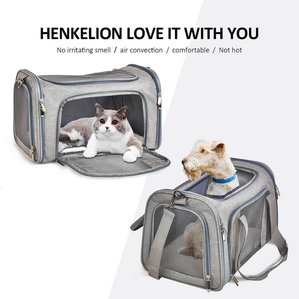 Soft Sided Carrier Pet Travel Protector Dog Bags - Faciipet