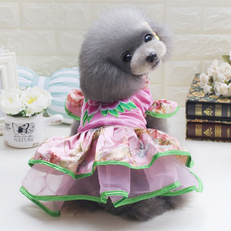 Tang Suit Toy Poodle Clothes Puppy Outfits - Faciipet