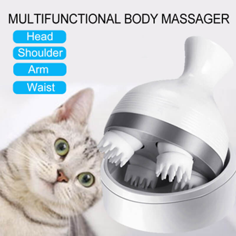USB Charging 3D Intelligent Head Cat Massager - Faciipet