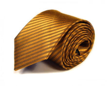 Load image into Gallery viewer, Gold Woven Silk Tie by Focus Ties (The Diablo - Premium High Quality Silk Business / Wedding Necktie)