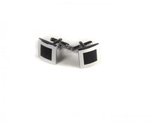 Load image into Gallery viewer, Black Inner Square Cufflinks