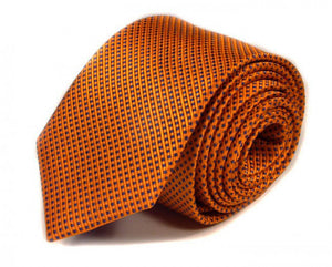 Orange Solid, Woven Silk Tie by Focus Ties (The Viper - Premium High Quality Silk Business / Wedding Necktie)