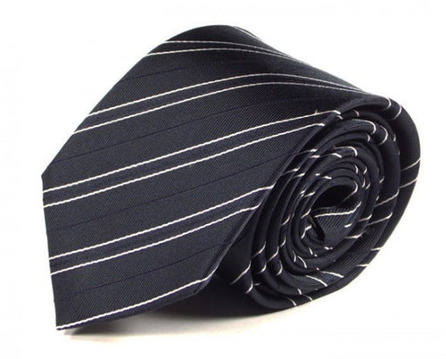 Blue Striped Silk Tie by Focus Ties (The Undara - Premium High Quality Silk Business / Wedding Necktie)