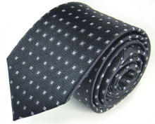 Load image into Gallery viewer, Black Dotted, Woven Silk Tie by Focus Ties (The Lena - Premium High Quality Silk Business / Wedding Necktie)