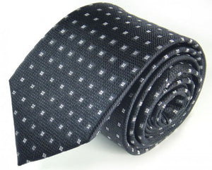 Black Dotted, Woven Silk Tie by Focus Ties (The Lena - Premium High Quality Silk Business / Wedding Necktie)