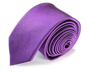 Pink Solid, Woven Silk Tie by Focus Ties (The Mauritius - Premium High Quality Silk Business / Wedding Necktie)