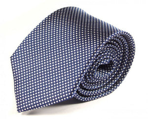 Blue Woven Silk Tie by Focus Ties (The Furnas - Premium High Quality Silk Business / Wedding Necktie)