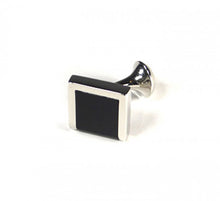 Load image into Gallery viewer, Black Three Edge Cufflinks (Premium High Quality Business / Wedding Accessories by Focus Ties)