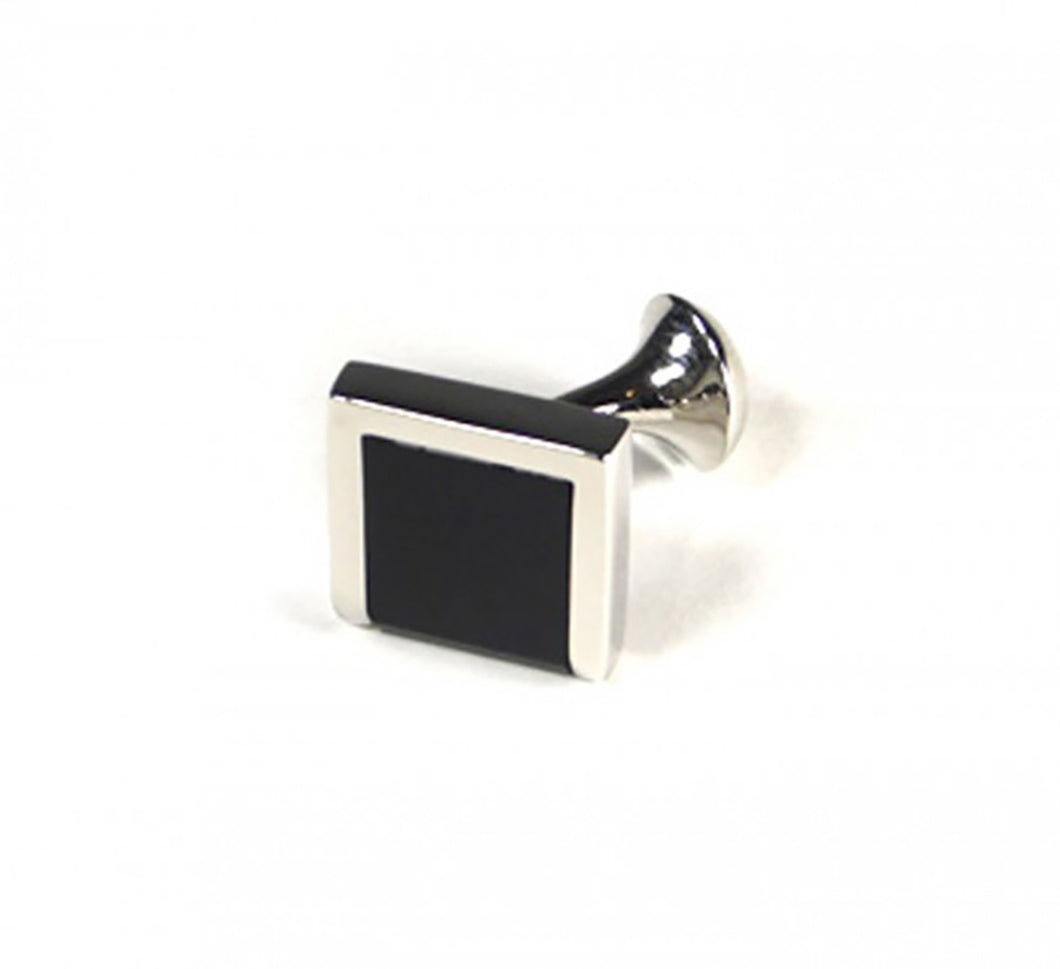 Black Three Edge Cufflinks (Premium High Quality Business / Wedding Accessories by Focus Ties)