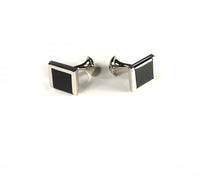 Load image into Gallery viewer, Black Three Edge Cufflinks