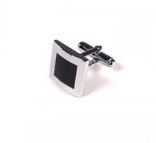 Load image into Gallery viewer, Black Inner Square Cufflinks (Premium High Quality Business / Wedding Accessories by Focus Ties)