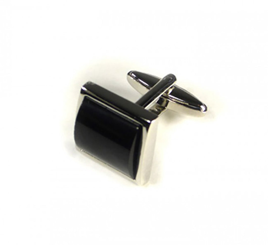 Black Pillow Style Cufflinks (Premium High Quality Business / Wedding Accessories by Focus Ties)