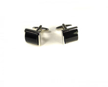 Load image into Gallery viewer, Black Pillow Style Cufflinks