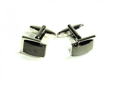 Load image into Gallery viewer, Black Inset Style Cufflinks