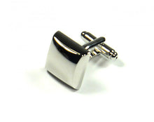 Load image into Gallery viewer, Silver Pillow Style Cufflinks (Premium High Quality Business / Wedding Accessories by Focus Ties)