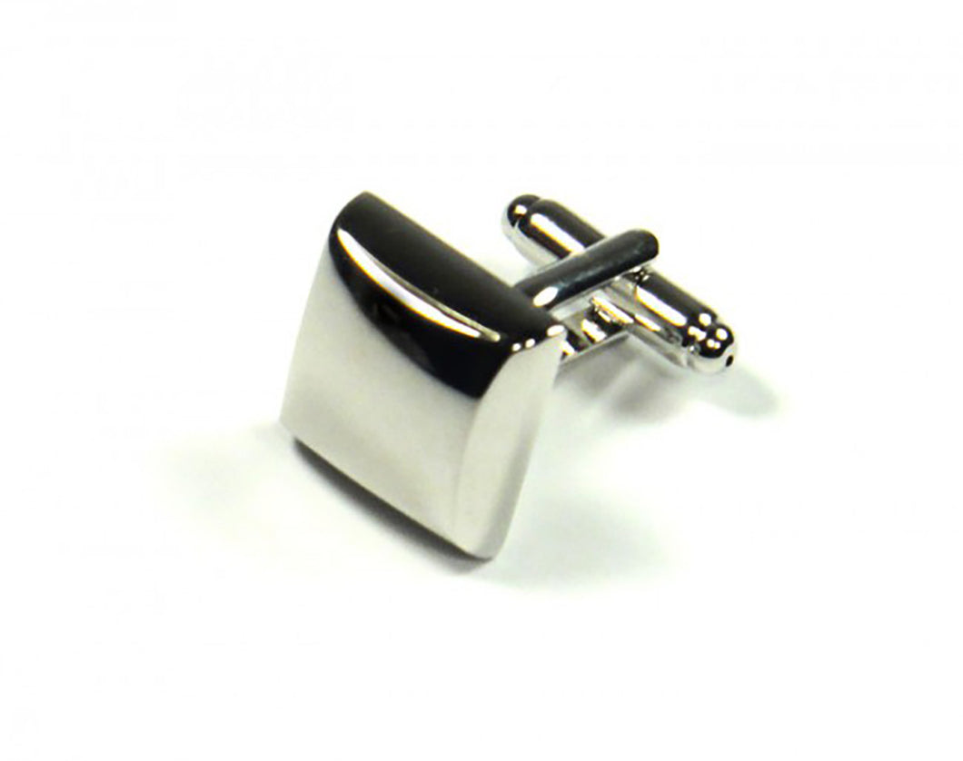 Silver Pillow Style Cufflinks (Premium High Quality Business / Wedding Accessories by Focus Ties)