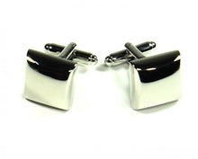Load image into Gallery viewer, Silver Pillow Style Cufflinks