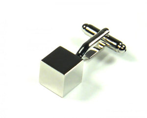 Silver Cube Cufflinks (Premium High Quality Business / Wedding Accessories by Focus Ties)