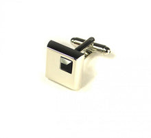Load image into Gallery viewer, Black Stone Cufflinks (Premium High Quality Business / Wedding Accessories by Focus Ties)