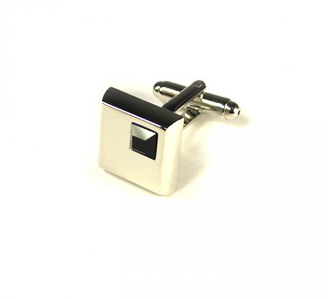 Black Stone Cufflinks (Premium High Quality Business / Wedding Accessories by Focus Ties)