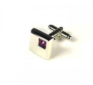 Pink Stone Cufflinks (Premium High Quality Business / Wedding Accessories by Focus Ties)