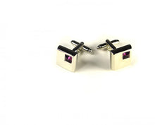 Load image into Gallery viewer, Pink Stone Cufflinks