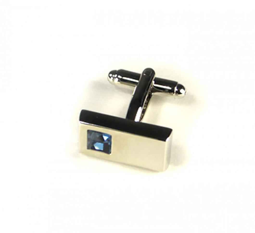 Blue Rectangle Stone Cufflinks (Premium High Quality Business / Wedding Accessories by Focus Ties)